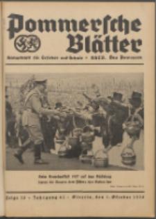 Pommersche Blätter : Kampfblatt für Erzieher und Schule. Jg. 63, 1938 Folge 13