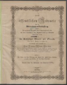 Zu der öffentlichen Redeübung 1845