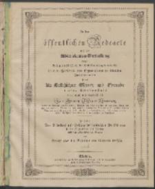 Zu der öffentlichen Redeübung 1846