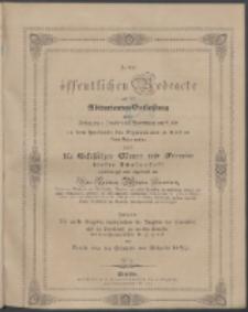 Zu der öffentlichen Redeübung 1847