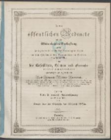 Zu der öffentlichen Redeübung 1849