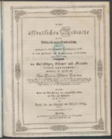 Zu der öffentlichen Redeübung 1850