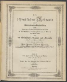 Zu der öffentlichen Redeübung 1852