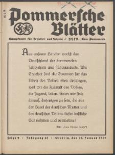 Pommersche Blätter : Kampfblatt für Erzieher und Schule. Jg. 64, 1939 Folge 2