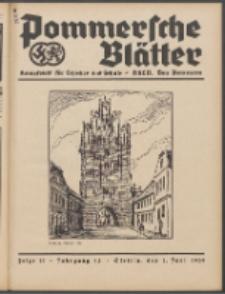 Pommersche Blätter : Kampfblatt für Erzieher und Schule. Jg. 64, 1939 Folge 11