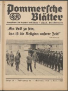 Pommersche Blätter : Kampfblatt für Erzieher und Schule. Jg. 64, 1939 Folge 13