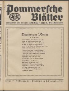 Pommersche Blätter : Kampfblatt für Erzieher und Schule. Jg. 64, 1939 Folge 17