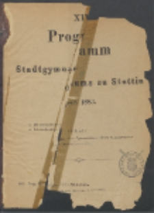 Programm 1883
