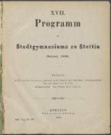 Programm 1886