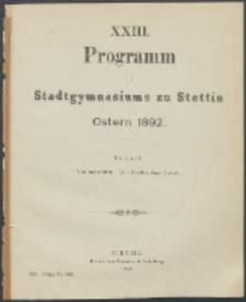 Programm 1892