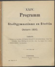 Programm 1893