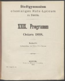 Programm 1898