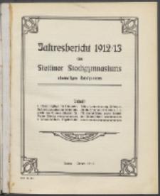 Jahresbericht des Stettiner Stadtgymnasiums, Ehemaligen Rats-Lyceums 1912/13