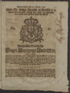 Wochentlich-Stettinische Frag- und Anzeigungs-Nachrichten. 1751 No. 21