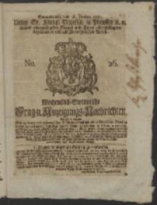 Wochentlich-Stettinische Frag- und Anzeigungs-Nachrichten. 1751 No. 26