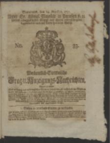 Wochentlich-Stettinische Frag- und Anzeigungs-Nachrichten. 1751 No. 33