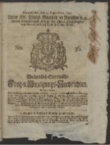 Wochentlich-Stettinische Frag- und Anzeigungs-Nachrichten. 1751 No. 36