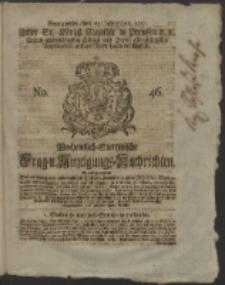 Wochentlich-Stettinische Frag- und Anzeigungs-Nachrichten. 1751 No. 46