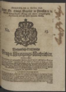 Wochentlich-Stettinische Frag- und Anzeigungs-Nachrichten. 1748 No. 13