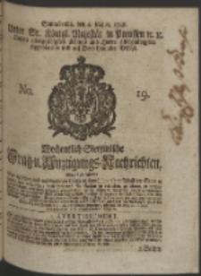 Wochentlich-Stettinische Frag- und Anzeigungs-Nachrichten. 1748 No. 19