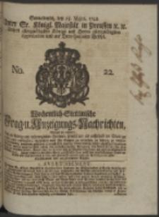 Wochentlich-Stettinische Frag- und Anzeigungs-Nachrichten. 1748 No. 22