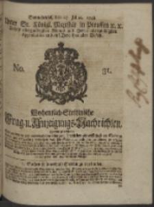 Wochentlich-Stettinische Frag- und Anzeigungs-Nachrichten. 1748 No. 31