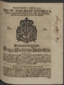 Wochentlich-Stettinische Frag- und Anzeigungs-Nachrichten. 1748 No. 32