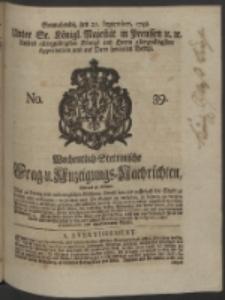 Wochentlich-Stettinische Frag- und Anzeigungs-Nachrichten. 1748 No. 39