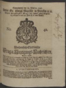 Wochentlich-Stettinische Frag- und Anzeigungs-Nachrichten. 1748 No. 42
