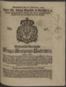 Wochentlich-Stettinische Frag- und Anzeigungs-Nachrichten. 1748 No. 47