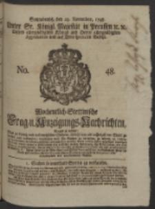 Wochentlich-Stettinische Frag- und Anzeigungs-Nachrichten. 1748 No. 48