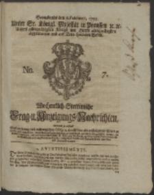 Wochentlich-Stettinische Frag- und Anzeigungs-Nachrichten. 1755 No. & + Anhang