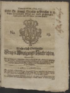 Wochentlich-Stettinische Frag- und Anzeigungs-Nachrichten. 1755 No. 19 + Anhang