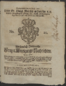 Wochentlich-Stettinische Frag- und Anzeigungs-Nachrichten. 1755 No. 20 + Anhang