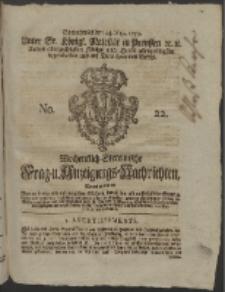 Wochentlich-Stettinische Frag- und Anzeigungs-Nachrichten. 1755 No. 22 + Anhang