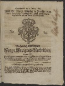 Wochentlich-Stettinische Frag- und Anzeigungs-Nachrichten. 1755 No. 24 + Anhang