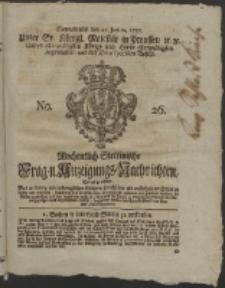 Wochentlich-Stettinische Frag- und Anzeigungs-Nachrichten. 1755 No. 26 + Anhang