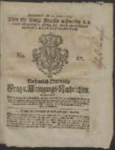 Wochentlich-Stettinische Frag- und Anzeigungs-Nachrichten. 1755 No. 27 + Anhang