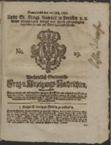 Wochentlich-Stettinische Frag- und Anzeigungs-Nachrichten. 1755 No. 29 + Anhang
