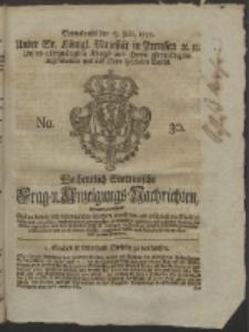 Wochentlich-Stettinische Frag- und Anzeigungs-Nachrichten. 1755 No. 30 + Anhang