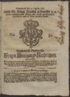 Wochentlich-Stettinische Frag- und Anzeigungs-Nachrichten. 1755 No. 32 + Anhang