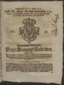 Wochentlich-Stettinische Frag- und Anzeigungs-Nachrichten. 1755 No. 36 + Anhang