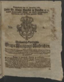 Wochentlich-Stettinische Frag- und Anzeigungs-Nachrichten. 1764 No. 2 + Anhang