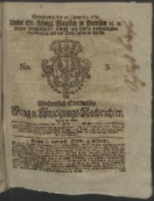 Wochentlich-Stettinische Frag- und Anzeigungs-Nachrichten. 1764 No. 3 + Anhang
