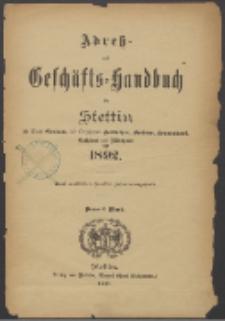 Adress- und Geschäfts-Handbuch für Stettin : nach amtlichen Quellen zusammengestellt. 1892