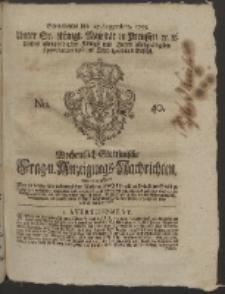 Wochentlich-Stettinische Frag- und Anzeigungs-Nachrichten. 1755 No. 40 + Anhang