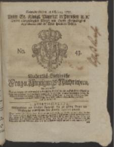 Wochentlich-Stettinische Frag- und Anzeigungs-Nachrichten. 1755 No. 43 + Anhang