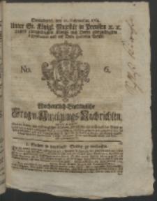 Wochentlich-Stettinische Frag- und Anzeigungs-Nachrichten. 1764 No. 6 + Anhang
