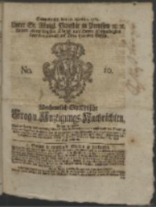 Wochentlich-Stettinische Frag- und Anzeigungs-Nachrichten. 1764 No. 10 + Anhang
