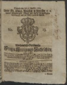 Wochentlich-Stettinische Frag- und Anzeigungs-Nachrichten. 1764 No. 13 + Anhang